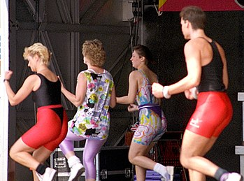 A public demonstration of aerobic exercises
