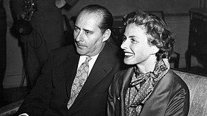 English: Photo of Ingrid Bergman and Roberto R...