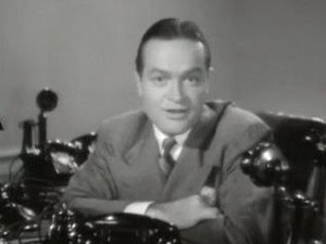 Cropped screenshot of Bob Hope from the traile...