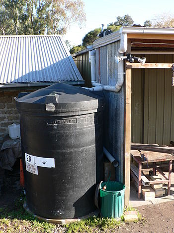 Rainwater harvesting systems channel rainwater...