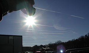 Surface based contrails viewed from NASA Langl...