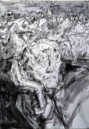 "Gunter Böhmer: ""Nightmare"", Indian ink drawing..."