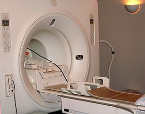 The opening in a GE Signa MRI machine
