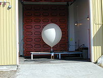 Close up of a hydrogen filled balloon at Cambr...