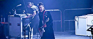 English: 30 Seconds to Mars performing in Manc...
