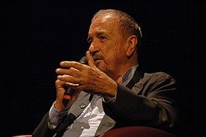 Screenwriter Jean-Claude Carrière giving a lec...