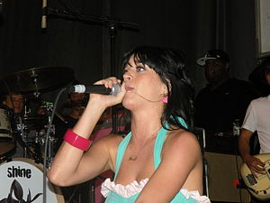 Katy Perry performing in Uniondale, New York o...