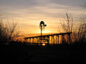Landschaftspark Duisburg-Nord - Wind wheel in ...