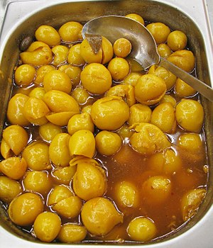 Small pickled lemons - a Moroccan delicacy
