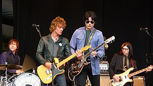 English: The Raconteurs performing at T in the...