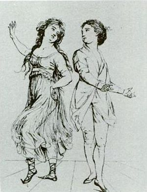 Dancing couple (Salvatore and Maria Viganò). D...