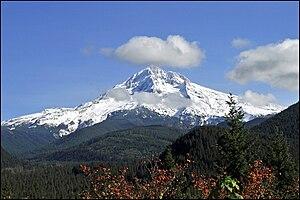 Mount Hood in the Cascade Volcanic Arc in nort...