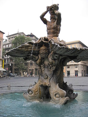 Rome, Fountain of the Triton, in piazza Barber...