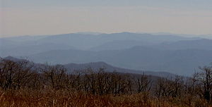 The Unicoi Mountains, looking southeast from t...