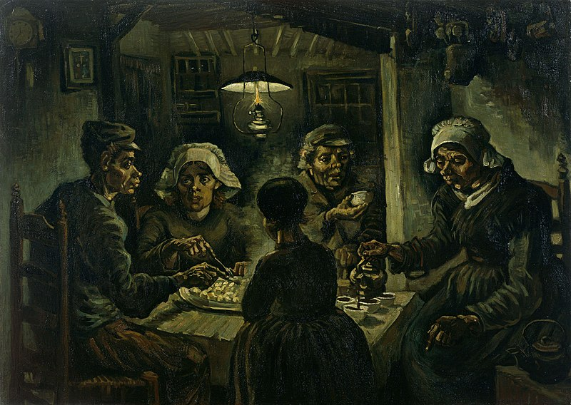 Vincent van Gogh: De Aardappeleters (The Potato Eaters), April 1885