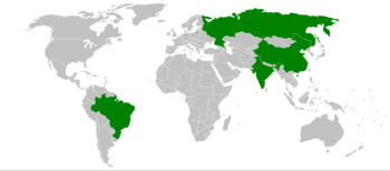 The four BRIC countries: Brazil, Russia, India...