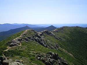 English: The Franconia Ridge, a section of the...