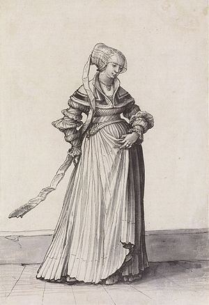 Basel Woman Turned to the Right, Costume Study...