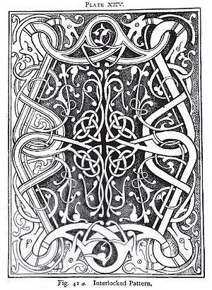 English: knot design by Charles Godfrey Leland
