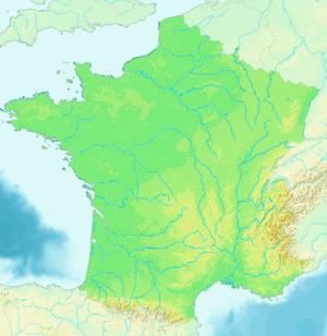 Ubicación de Mont-de-MarsanLo Mont de Marsan en Francia
