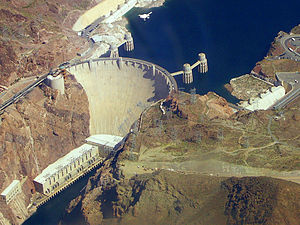 Hoover dam from plane, color balance corrected...