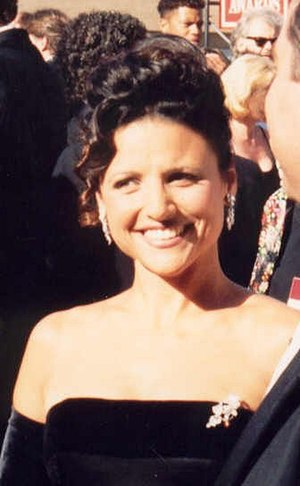 Photo of Julia Louis-Dreyfus at the Emmy Awards.