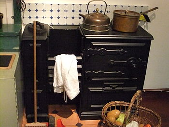 Kitchen range. Photo taken at Hereford Museum ...