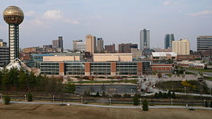 Eastward view of the skyline of downtown Knoxv...