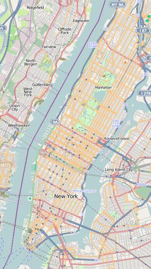 Location map United States Manhattan