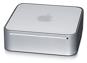 The Mac mini, low-cost desktop computer.