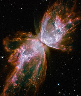 NGC 6302 vista dall'HST.