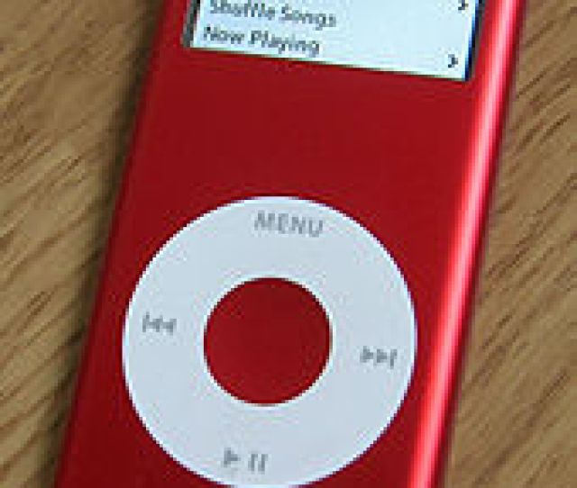 A Red Ipod Nano An Example Of Supporting A Charity Through Buying Products