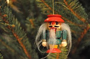Nutcracker christmas ornament