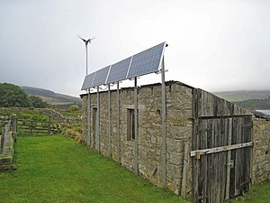 English: Renewable energy sources at Chattleho...