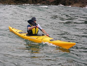 English: Modern sea kayak in west Wales