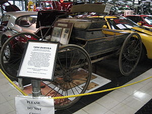 1894 Duryea horseless carriage, on display at ...