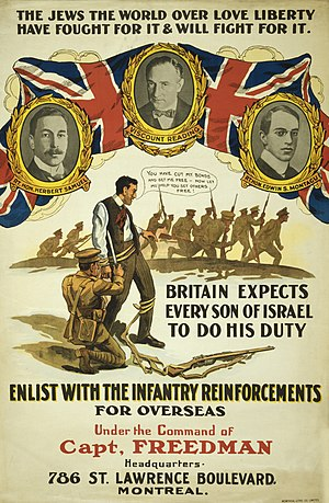 English: World War I enlistment poster from Ca...