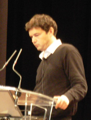 Thomas Piketty, French economist, during the c...