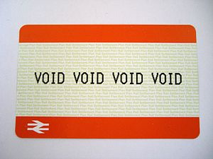 Ticket that says 'VOID VOID VOID VOID' from a ...