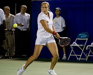 English: Bethanie Mattek playing for the New Y...