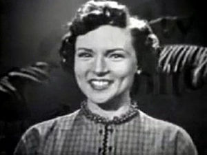 Cropped screenshot of Betty White from the tel...