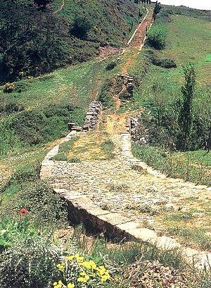 Calzada romana y puente de Cirauqui