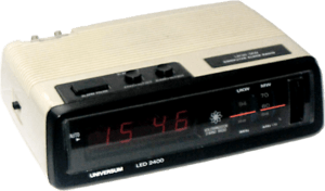 Computer clock radio (a radio that is an alarm...