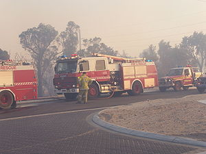 FESA appliances, operating during bushfires in...