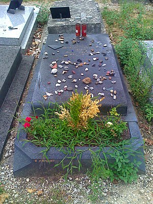 English: Grave of writer Paul Celan (1920 - 19...