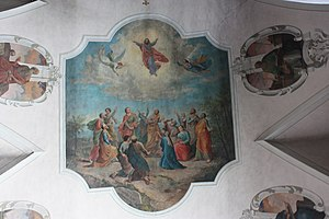 Holy Spirit church: Cellingpainting: Assumptio...