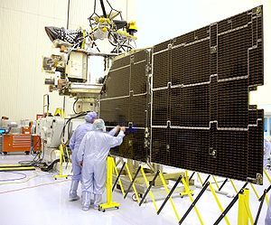 The Mars Reconnaissance Orbiter solar panel