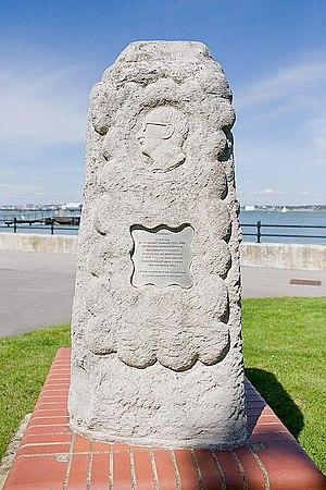 English: Memorial to Sir Christopher Cockerell...