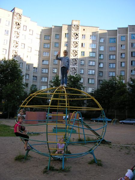 Example of a playground on a housing estate
