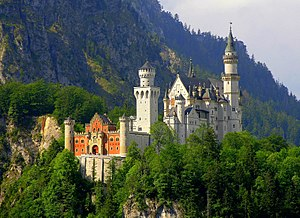 Neuschwanstein Castle is a famous German castl...